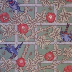 repeating trellis floral pattern