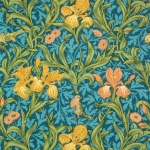 vivid william morris green and yellow pattern
