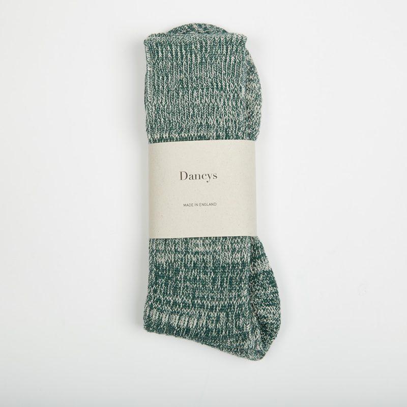 Green Fleck socks.