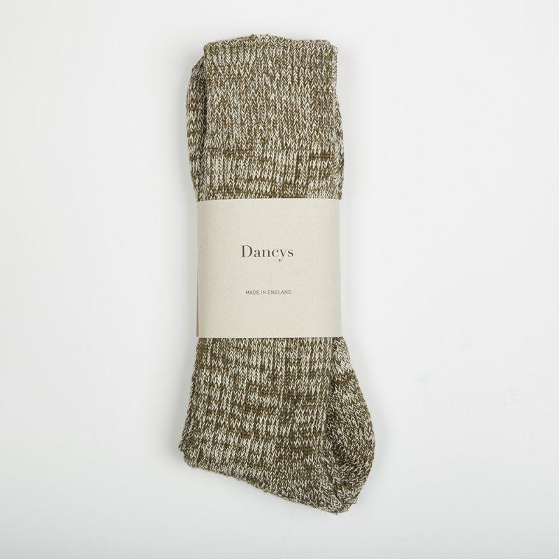 Moss Green Fleck socks.