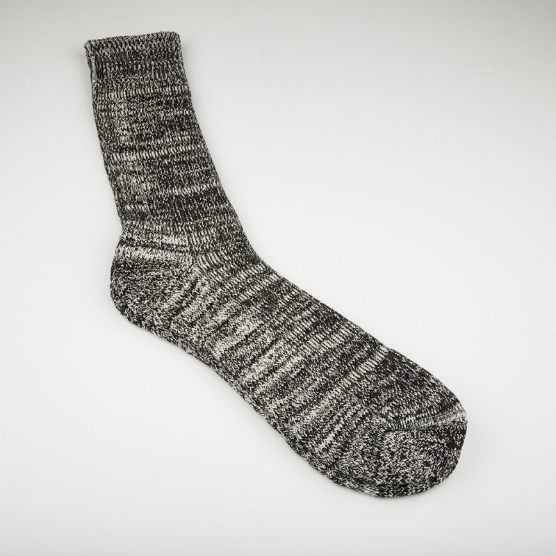Black Fleck socks.
