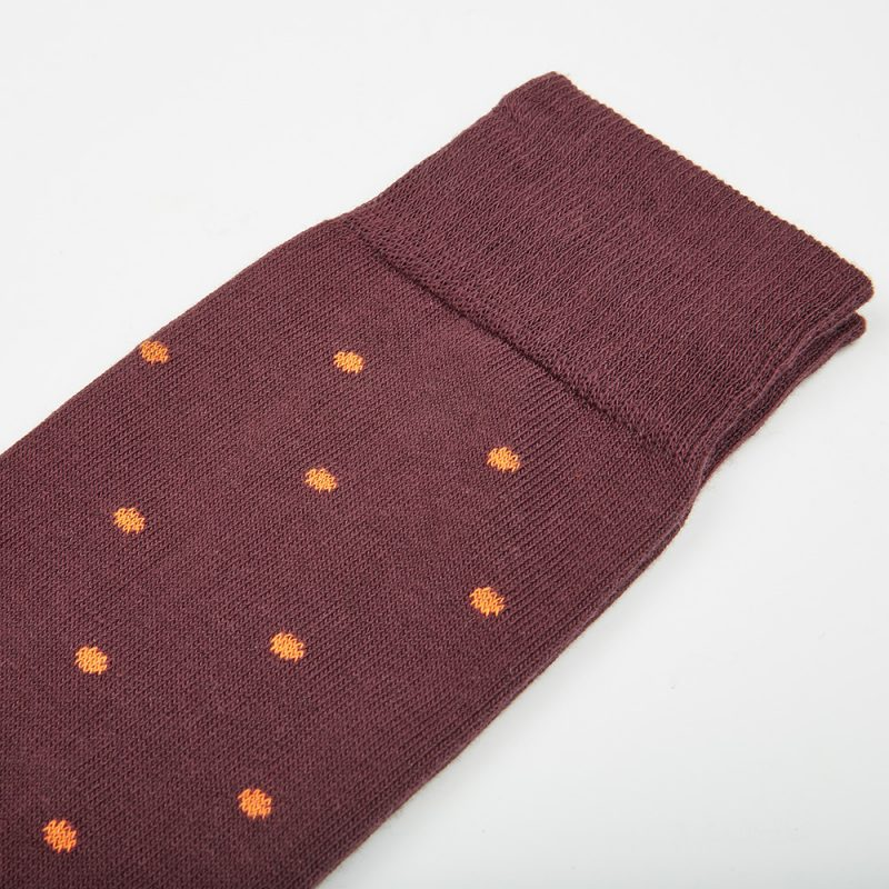 Burgundy Polkadot Socks.