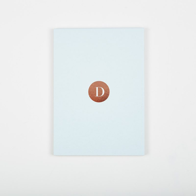 Ice Blue Pocket Notepad.