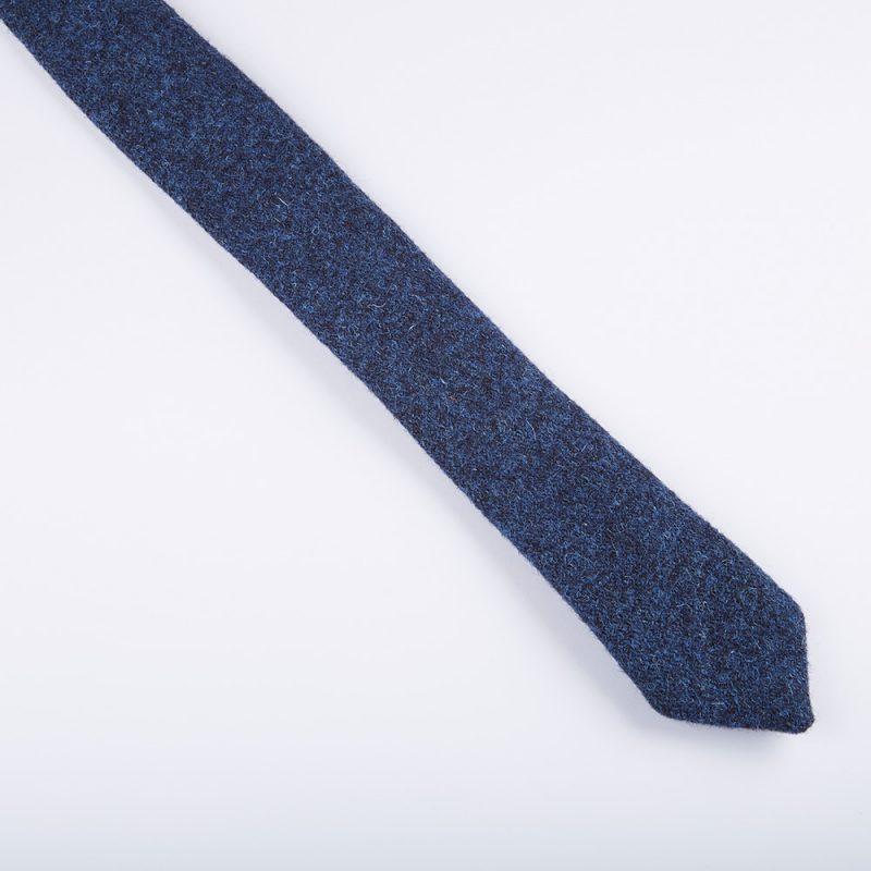 Indigo Harris Tweed Wool Tie.