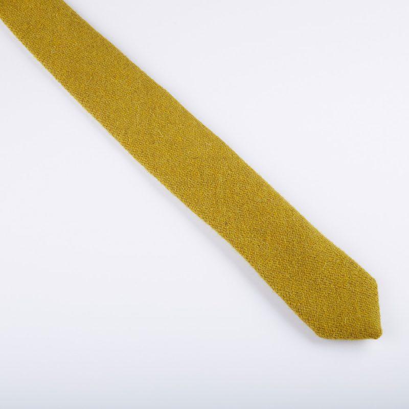 Ocre Harris Tweed Wool Tie.