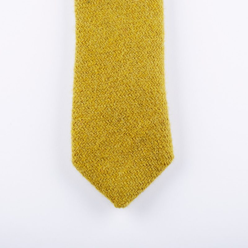 Ocre Harris Tweed Wool Tie.