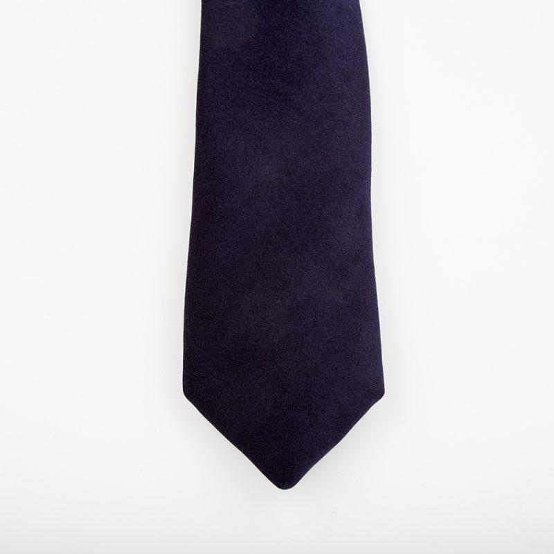 Midnight velvet tie.