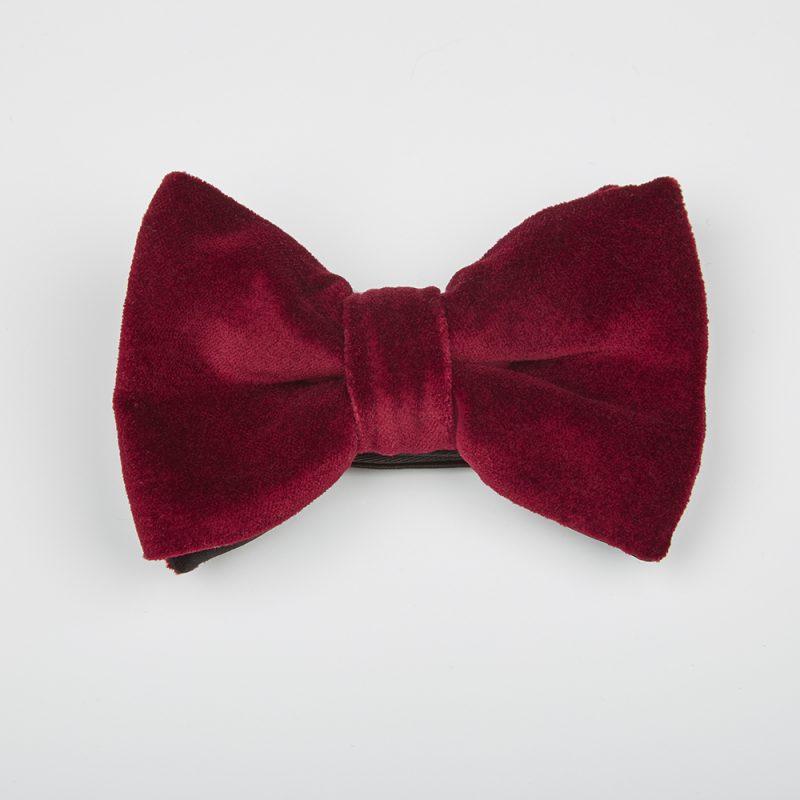 Wine Velvet Bow Tie.