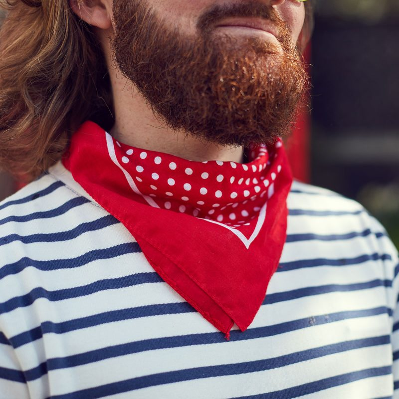 Red Polkadot Neckerchief