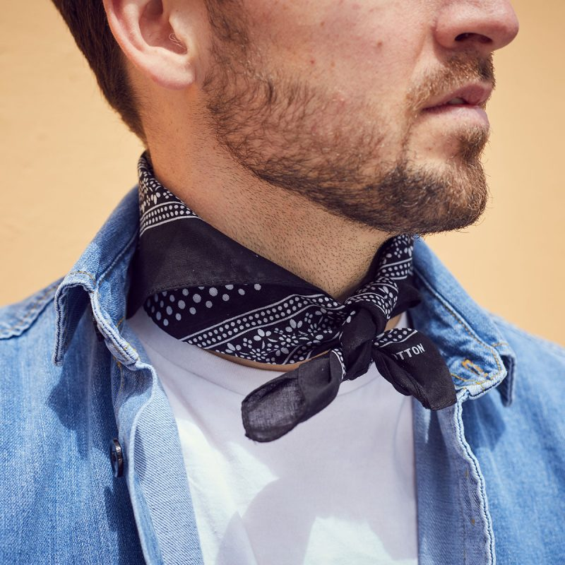 Black Polkadot Neckerchief